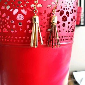 """Handmade Gold tussle earrings 2"""""""